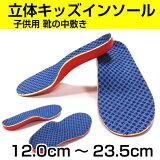 インソール 中敷き 立体タイプ 子供 ジュニア キッズ 大きめ靴のサイズ調整 12cm〜23.5cm 長靴 スニーカー ブーツ