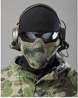 サバイバルゲーム装備メッシュハーフフェイスガードNAVYSEALsスタイルメタル製メッシュマスク