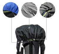 ザックカバー防水レインカバー【Sサイズ15L〜35L用】バックパックアルパインバッグリュック雨対策軽量・コンパクト収納袋付き