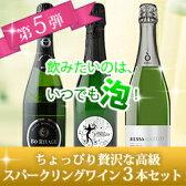 ちょっぴり贅沢な辛口スパークリングワイン3本セット 第5弾 スパークリングワインセット 【YDKG-t】【ギフト・プレゼント対応可】【ギフト ワイン】【ソムリエ】【楽ギフ_のし】【あす楽_日曜営業】