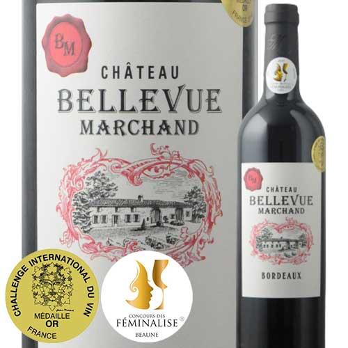 シャトー・ベルヴュー・マルシャン2018年フランスボルドー赤ワインフルボディ750ml ギフト・プレゼント対応可  ギフトワイン