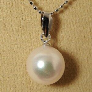 「あこや本真珠パールペンダントトップ(ヘッド)パールホワイト系8.0-8.5mmBBBK14WG」ホワイトゴールド(アコヤ本真珠)