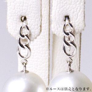 「チェーンデザインアメリカン/フックピアス金具(K14WG)」(真珠用)[n5]