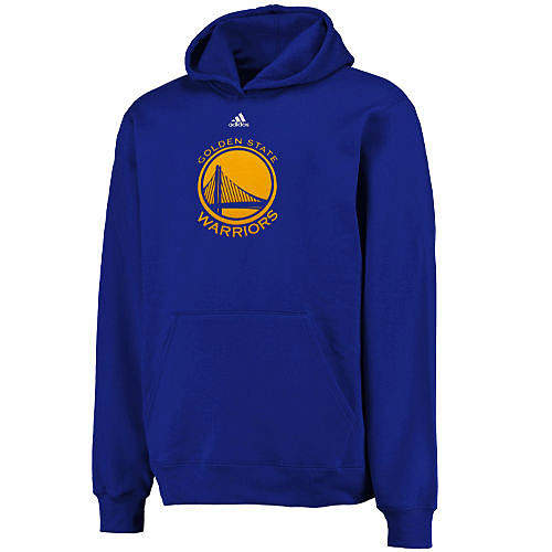 NBA プライマリーロゴ フーディー ウォリアーズ(ジュニア ブルー) Adidas + OUTER STUFF Golden State Warriors Youth Royal Primary Logo Hoodie