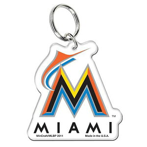 MLB チームロゴ アクリル キーチェーン マイアミ・マーリンズ Miami Marlins High Definition K...