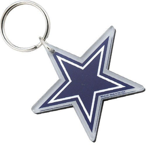 NFL チームロゴ アクリル キーチェーン カウボーイズ Dallas Cowboys Star Logo High Definition Keychain