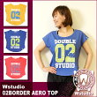 Wstudio☆ダブルスタジオ☆【全3色】02BORDERAEROTOP☆