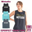 【ネコポス対応】Wstudioダブルスタジオ【全3色】02PERFECTUNISEXTANKフィットネスウェア