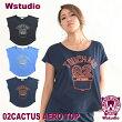 【ネコポス対応】Wstudioダブルスタジオ【全3色】02CACTUSAEROTOPフィットネスウェア