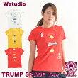 【ネコポス対応】Wstudioダブルスタジオ【全3色】TRUMPSPADETeeフィットネスウェア