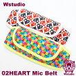 【Wstudio】ダブルスタジオ02HEARTMicBelt【全2色】マイクベルト
