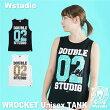 【ネコポス対応】Wstudioダブルスタジオ【全2色】WROCKETUnisexTANKフィットネスウェア