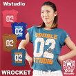 【ネコポス対応】Wstudioダブルスタジオ【全4色】02ROCKETGirlsTeeフィットネスウェア