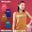 【ネコポス対応】Wstudioダブルスタジオ【全4色】WBANANAUnisexTANKフィットネスウェア