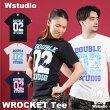 【ネコポス対応】Wstudioダブルスタジオ【全3色×2サイズ】WROCKETTeeフィットネスウェア
