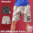 【送料無料】Wstudioダブルスタジオ【全2色】WFLOWERHalfPantsフィットネスウェア