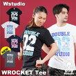 【ネコポス対応】Wstudioダブルスタジオ【全4色×2サイズ】WROCKETTeeフィットネスウェア