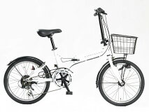 【CHRYSLER】カーブランドクライスラー折りたたみ自転車20インチ6段変速オートライト付きOFFWHITE