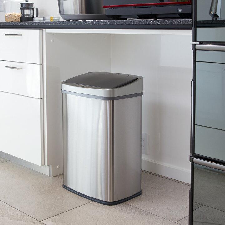 清潔 触れずにゴミ捨て センサー自動開閉 ゴミ箱 おしゃれ 大容量 45リットル ふた付き 2分別使用可能 45リットルゴミ袋対応 ステンレス ダストボックス 45L レビュー特典 WY
