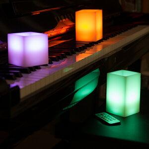 12色LEDキャンドル3点セット角型リモコン付き本物のロウ(ワックス)使用12種類の色で点灯できるLED使用様々な雰囲気を作り出せるインテリアアイテム自動消灯タイマー照明モード【送料無料_あす楽対応】P20Feb16