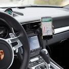 Qi置くだけで充電対応ワイヤレス充電機能内蔵カーホルダー【3つの充電コイルで広い充電範囲】エアコン吹出口、フロントガラス、ダッシュボードの3WAY取付け可!360度回転のボールジョイント採用12V/24V車両対応【送料無料_あす楽対応】P20Feb16