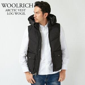 ウールリッチ WOOLRICH ダウン ベスト メンズ ARCTIC VEST LOG WOGIL0121 ブラック 【dwm】