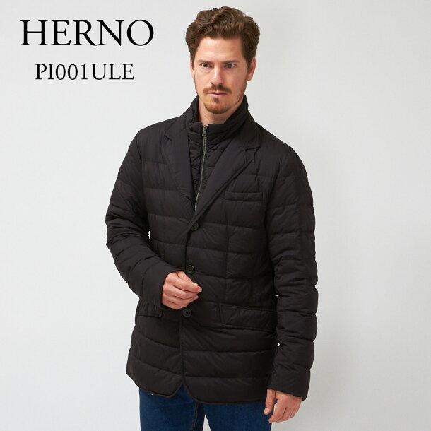 ヘルノ メンズ ダウンジャケット HERNO PI001 ULE 19288 ブラックの画像