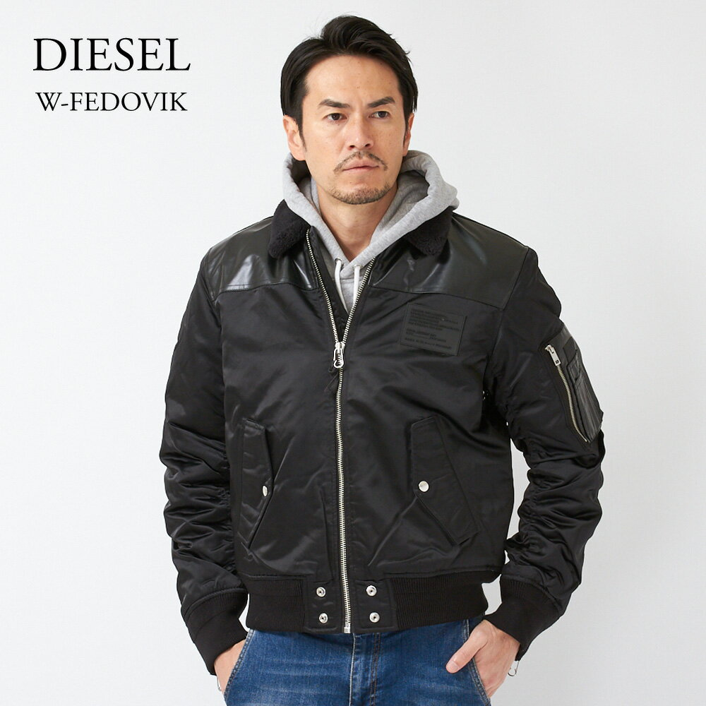 DIESEL ディーゼル ジャケット メンズ W-FEDOVIK 00SWEP 0TAQF ブラック(900) 【spd】【clm】
