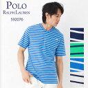 ポロラルフローレン ボーダーVネック Tシャツ 592076 ボーイズライン(メンズ) 選べるカラー LLサイズ 【ポロラルフローレン:Polo Ralph Lauren】