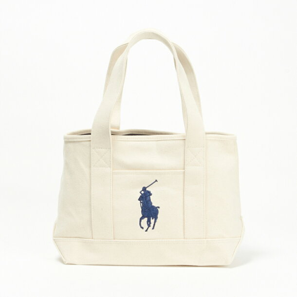 3d846e80a82a6 ... ポロ ラルフローレン POLO RALPH LAUREN バッグ トートバッグ 959010 SCHOOL TOTE MD  Natural/Navy