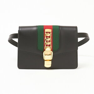 Gucci belt bag [SYLVIE: Sylvia] 476811 CVL1G Black (1060) GUCCI [bgl]