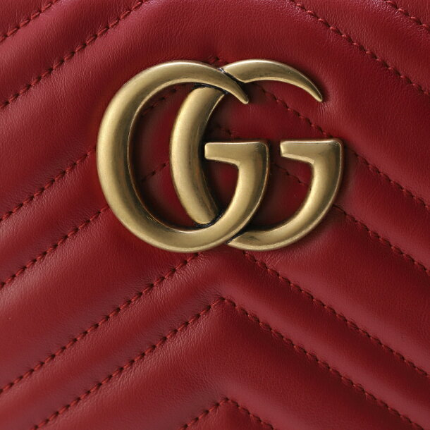 26e6bbf573bd グッチ GUCCI バッグ ショルダーバッグ 【GGマーモント:GG MARMONT 2.0】 447632 DTD1T レッド系(HIBIS RED/ 6433)