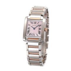カルティエ 時計 レディース CARTIER タンクフランセーズ ピンクゴールド SM ピンクシェル文字盤 W51027Q4 【お取り寄せ】