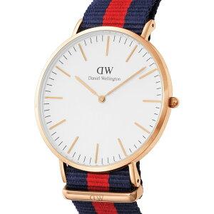 ダニエルウェリントンDANIELWELLINGTON腕時計メンズ0101DWオックスフォードローズゴールドカラー40mm
