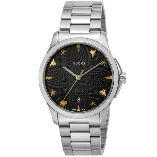 グッチ GUCCI 腕時計 ユニセックス 【Gタイムレス】 YA1264029 ブラックの画像