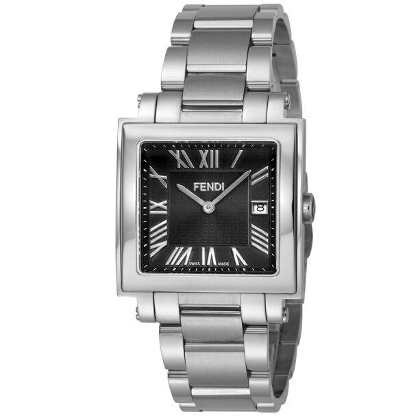 フェンディ 腕時計 メンズウォッチ 【QUADORO MEN:クアドロ メン】 F606011000 BLACK/SILVER FENDIの画像