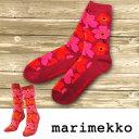 マリメッコ /ソックス/靴下マリメッコ marimekko ソックス UNIKKO SUKAT 036402 033 レッド×ピ...