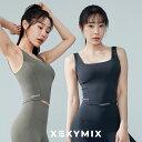 【10%オフ】xexymix ゼクシィミックス ヨガウェア トップス カップ付き ヨガトップス ブラトップ スポーツブラ ヨガ ウェア レディース トレーニングウェア スポーツウェア ピラティスウェア ブランド 韓国 おしゃれ XT4205F ハイサポート BLACK LABEL シグネチャー380N
