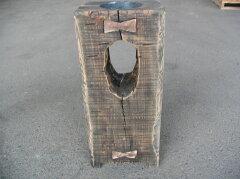 アンティーク枕木ソーラーガーデンライト ロータイプ