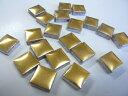 1cm角の小さなモザイクタイルゴールド20粒【ゆうパケット可】