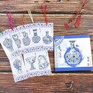 精装青花磁中国伝統手づくり栞切り絵のしおりケース入り