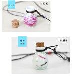 革ひも香水瓶風陶器ネックレス手作り陶器小物首飾り陶磁器飾り