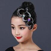 社交ダンスヘアアクセサリー髪飾り競技会デモパーティーラテンドレスモダンドレスヘアオーナメントH012