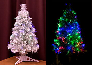 クリスマスツリー ファイバー 120cm 白 分割型 ファイバーツリー ホワイト LED 光源 北欧 おしゃれ 【レビュー】 【S】
