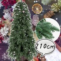 クリスマスツリー210cmリアルスプルースツリー木製ポットグリーンツリーの木[ヌードツリー]【xjbc】【RCP】