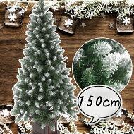 クリスマスツリー150cmポイントスノーツリー先雪木製ポットグリーンツリーの木[ヌードツリー]【xjbc】【RCP】
