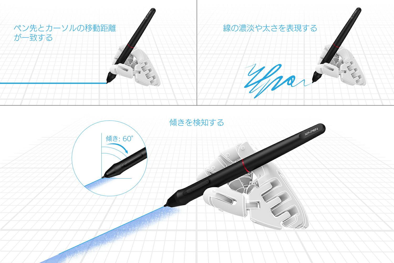 XP-Pen 液タブ スタント付き 傾き検知機能付き 視差が僅少 88%NTSC 15.6インチフルHD液晶ペンタブレット 8192筆圧検知 ペン 8個のエクスプレキー 1個のホイールキーArtist 15.6 Pro
