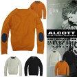 アルコット ニット Uネック 無地 ボーダー メンズ セーター KNIT ALCOTT イタリア Italy インポート 本物 正規品 通販