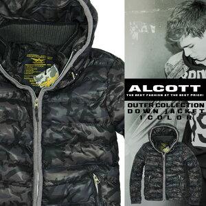 アルコット ダウンジャケット カモフラ 迷彩 メンズ ジャケット 中綿 DOWN JACKET ALCOTT イタリア Italy インポート 本物 正規品 通販