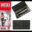 ディーゼル DIESEL 財布 長財布 メンズ レディース 本革 X03065 PR472 T8013 ブラック